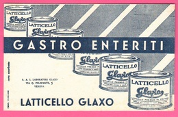 Carte Assorbenti Pubblicità Medicinali Farmacia Glaxo Latticello Verona Papier Absorbant Absorbent Paper - Carte Assorbenti
