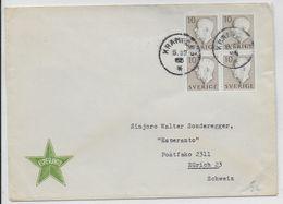 ESPERANTO - SUEDE - 1955 - ENVELOPPE ILLUSTREE De PROPAGANDE - Esperanto