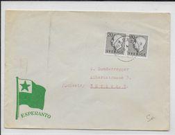 ESPERANTO - SUEDE - 1955 - ENVELOPPE ILLUSTREE De PROPAGANDE De GARAS - Esperanto