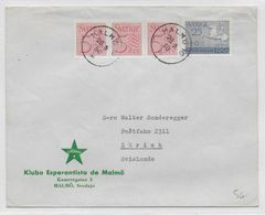 ESPERANTO - SUEDE - 1956 - ENVELOPPE ILLUSTREE De PROPAGANDE - Esperanto