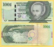 Paraguay 100000 (100'000) Guaranies P-240 2015 UNC - Paraguay