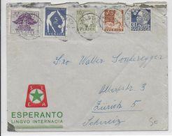 ESPERANTO - SUEDE - 1951 - ENVELOPPE ILLUSTREE De PROPAGANDE - Esperanto