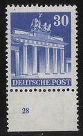 1948, Nr. 89 Eg, Platten-Nr. 28  , #a752 - Bizone