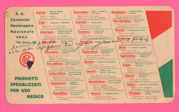 Carte Assorbenti Pubblicità Medicinali Farmacia Consorzio Neoterapeutico Papier Absorbant Absorbent Paper - Carte Assorbenti