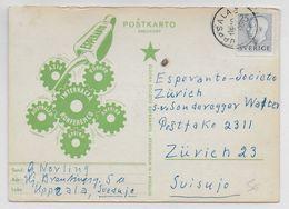 ESPERANTO - SUEDE - 1956 - CARTE ILLUSTREE De PROPAGANDE - Esperanto