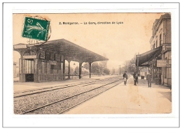 MONTGERON : La Gare, Direction De Lyon - Tres Bon Etat - France