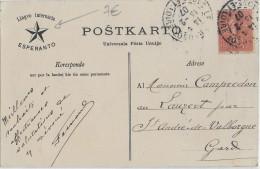 ESPERANTO - FRANCE - 1907 - CARTE Avec REPIQUAGE De PROPAGANDE De LE CREUSOT (SAONE ET LOIRE) - Esperanto
