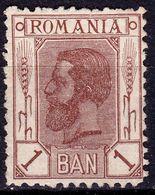 "Romania 1900/1911 ,1B King Carol I ""Wheat"", 0G,no Wmk. , Mi.128 - Unused Stamps"