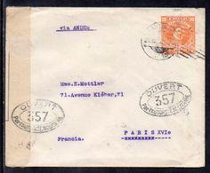Chile (Santiago) To France (Paris), 1918, Stationary, WW I, France Censor Tape - Chile