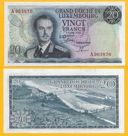 Luxembourg 20 Francs P-54 1966 UNC - Luxembourg
