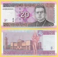 Lithuania 20 Litu P-69 2007 UNC - Lithuania