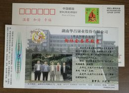 First Listed Company Of Stibium Metallurgy,Board Of Directors,CN 98 Huachang Antimony Industry Advert Pre-stamped Card - Factories & Industries