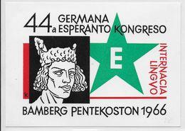ESPERANTO - ALLEMAGNE - 1966 - CARTE Avec PROPAGANDE ILLUSTREE De BAMBERG NON CIRCULEE - Esperanto