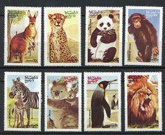 (lot 3) Oman ** - Animaux : Kangourou, Panthère, Panda, Singe, Zèbre, Koala, Pingouin, Lion - - Oman