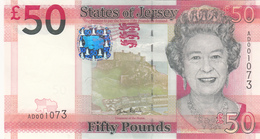 Jersey Banknote (Pick 36) Fifty Pound D Series, Code AD - Superb UNC Condition - Jersey