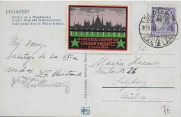 ESPERANTO - HONGRIE - 1929 - VIGNETTE Sur CARTE De BUDAPEST => SALZBURG - Esperanto