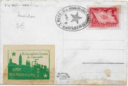 ESPERANTO - HONGRIE - 1948 - VIGNETTE Sur CARTE De GYÖR Avec OBLITERATION - Esperanto