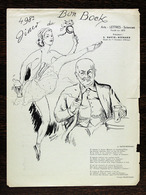 Diner Du Bon Bock N°498, Février 1959; Poésie – G. Blanchard, Illustr.-R.Mahias - Menus