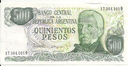 ARGENTINE 500 PESOS ND1977-82 UNC P 303 C - Argentine