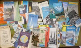 Important Lot De 66 Prospectus Touristique De Suisse Des Années 1960 (Luzerne, Lac Léman, Fribourg....) - Dépliants Turistici