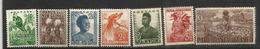 Première émission Année 1952 , 7 Timbres Neufs **   Côte 15,00 € EUR - Papouasie-Nouvelle-Guinée