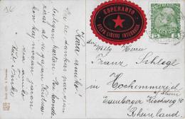ESPERANTO - AUTRICHE - VIGNETTE Sur CARTE De HAINDORF (BOHEME) - Esperanto