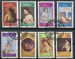 (lot 15 Bis) Oman Ob - Série De 8 Tbres - Tableaux De Nus - - Oman