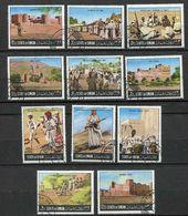 (lot 19) Oman Ob Lot De 4 Tbres  - Tableaux :  Bataille - Oman