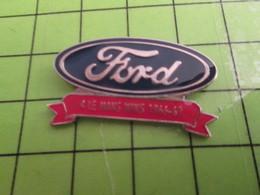 718a Pin's Pins / Beau Et Rare : Thème AUTOMOBILES / LOGO DE LA MARQUE FORD 4 LE MANS WINS 1966-1969 - Ford