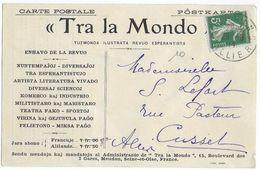 ESPERANTO - 1914 - CARTE De PROPAGANDE ESPERANTISTE De MOULINS (ALLIER) - Esperanto