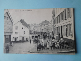 Herve 1908  Place Du Marché / Imprimerie Em. Chandelle / Très Animée - Herve