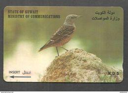 USED PHONECARD KUWAIT BIRD - Kuwait