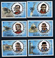 """(lot 25) Oman ** Série Surcharge Noire """"J.O. De Munich"""" - Hommage Aux Cosmonautes - Oman"""