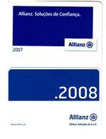Portugal , ALLIANZ ,  2007  ,  2008 , Calendar , Calendrier , Insurance , Assurance , Seguros - Small : 2001-...