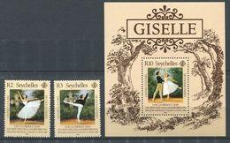 234 SEYCHELLES 1986 - Yvert 599/600 BF 27 - Giselle Danse - Neuf ** (MNH) Sans Trace De Charniere - Seychelles (1976-...)