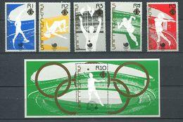 234 SEYCHELLES 1988 - Yvert 651/55 BF 31 - Sport JO Seoul - Neuf ** (MNH) Sans Trace De Charniere - Seychelles (1976-...)