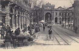 Zürich - Bahnhofstrasse Mit Wochenmarkt & Tram - 1907        (P-163-80717) - ZH Zürich