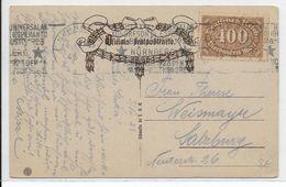 ESPERANTO - 1923 - CARTE SPECIALE (VOIR DOS) Avec MECA ESPERANTISTE De NÜRNBERG - Esperanto