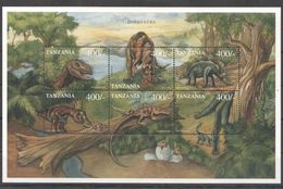 O021 TANZANIA PREHISTORIC ANIMALS DINOSAURS 1KB MNH - Prehistorics