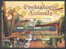 O024 GRENADA FAUNA REPTILES DINOSAURS PREHISTORIC ANIMALS 1KB MNH - Prehistorics