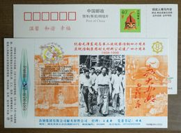 Memory Of Chairman Mao Visit Daye Steel Plant,CN 98 Yegang Goup Refractory Material Company Advert Pre-stamped Card - Mao Tse-Tung