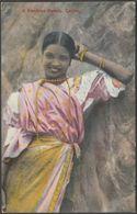 A Kandyan Beauty, Ceylon, C.1910 - Plâté Postcard - Sri Lanka (Ceylon)