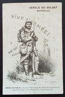 Carte De Franchise Militaire Spéciale CERCLE DU SOLDAT MARSEILLE - Marcophilie (Lettres)