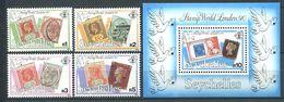 234 SEYCHELLES 1990 - Yvert 709/12 BF 35 - Timbres Sur Timbre - Neuf ** (MNH) Sans Trace De Charniere - Seychelles (1976-...)