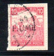 Fiume  / N 22 / 10 Fi Rouge / Oblitéré - 8. WW I Occupation