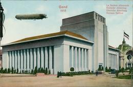 Postkaart Gent Ghent (Gand) La Section Allemande - Zeppelin - Expo 1913  - Belgium