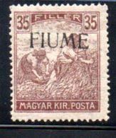 Fiume  / N 12 / 35 Fi Brun / NEUF Avec Charnière - 8. WW I Occupation
