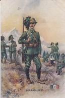 """GUERRE 1914-18 - Jolie Carte Fantaisie """" BERSAGLIERS  """"  / CARTE PUB PHARMACIE CENTRALE P.L.M LYON - War 1914-18"""