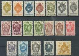 [807661] */Mh-Liechtenstein 1920, N° 25/39, Série Complète Dont Nuances - Unused Stamps