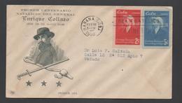 3301   FDC   Habana Cuba 1950, Enrique Collazo , - FDC